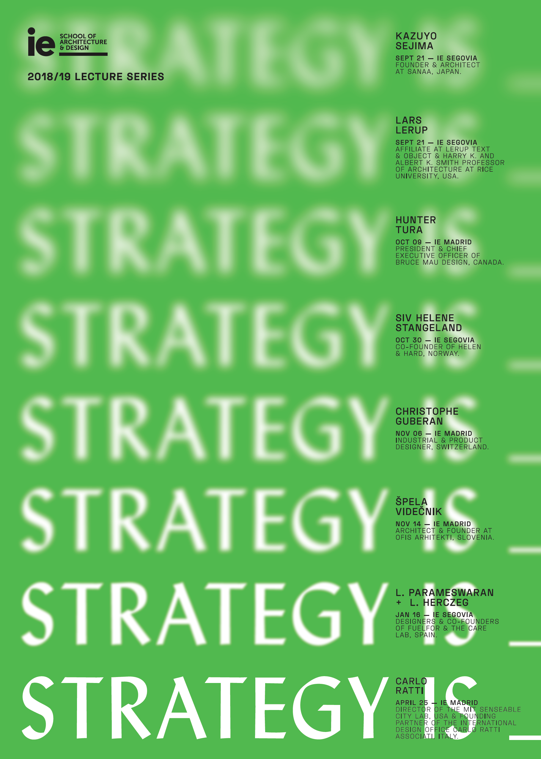 STRATEGY IS_ - IE School of Architecture and Design